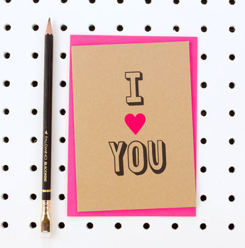 'I Heart You' Valentine's Day Card