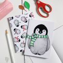 Baby Penguin Pattern Notebook