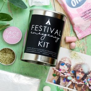 Festival Kit In A Tin With Face Glitter