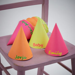 Personalised Neon Party Hats