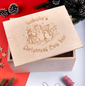 Personalised Snowman Christmas Eve Box