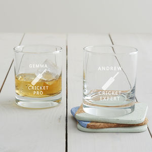 Personalised Cricket Glass