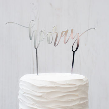 'Hooray' Cake Topper