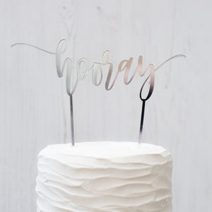'Hooray' Cake Topper - cake toppers & decorations