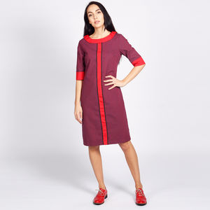 Bloomsbury Tunic Dress Purple Red - dresses