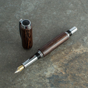 'Aristotle' Luxury Wenge Fountain Pen Handcrafted