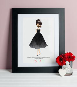 Audrey Hepburn 'Hold On To Each Other' Friends Print - people & portraits