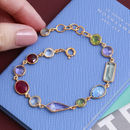 Rainbow Gemstone Bracelet In 18ct Gold Vermeil