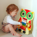 Wooden Owl Musical Instrument Set
