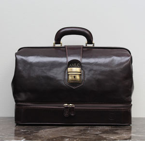 Personalised Leather Doctors Bag.'The Donnini L'