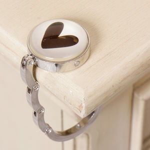 Absolutely Fabulous Steel Heart Shaped Bag Holder