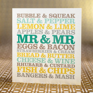 Mr And Mr Wedding Card - wedding cards