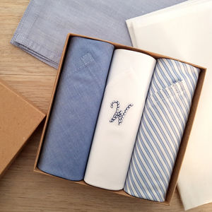 Initials Handkerchiefs Set - best man & usher gifts