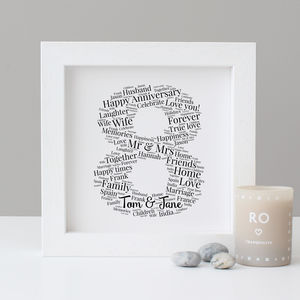 Personalised 8th Anniversary Print - posters & prints