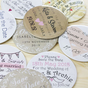 Personalised Save The Date Magnet And Envelope