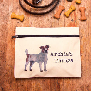 Personalised Zipped Pouch For Dog Essentials - dogs