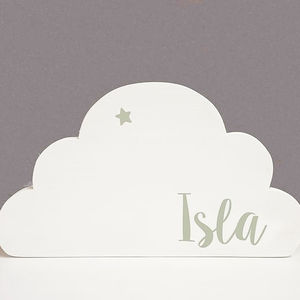 Personalised Wooden Cloud - whatsnew