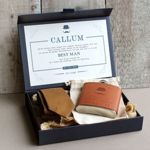 Navy Groomsman Gift Box