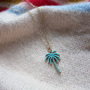 Turquoise Palm Tree Necklace