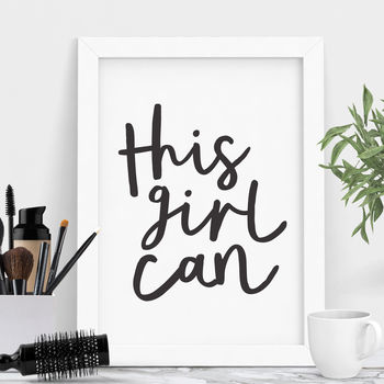 'This Girl Can' Typography Print
