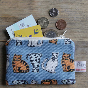 Cat Small Zipped Purse
