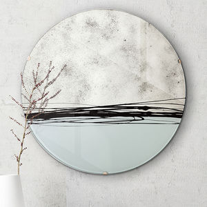 Mono Colour Block Round Mirror - brand new sellers