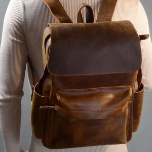 Vintage Leather Backpack Gift For Man - bags