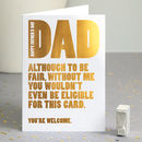 Gold Foil Father's Day Funny Card