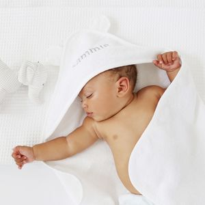 Personalised Hooded Baby Towel - christening gifts