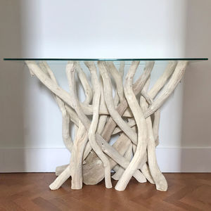 Driftwood Console Table - living room