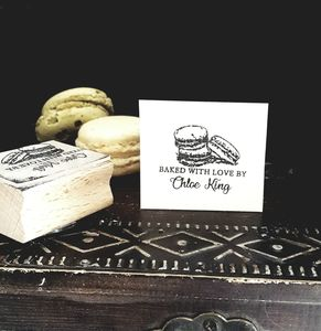 Personalised Macaroon Rubber Stamp