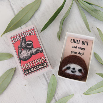 Wool Felt Sloth Birthday Gift