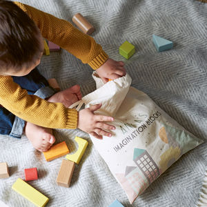 Building Blocks In A Personalised Bag - gifts for children