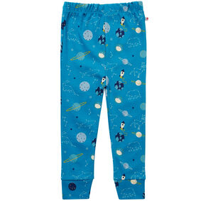 Kids Teal Blue Unisex Space Leggings