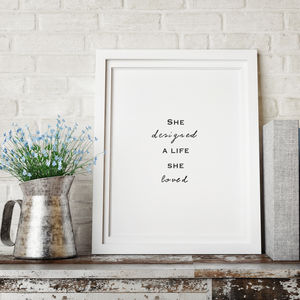 Girls Inspirational Quote Print - baby's room