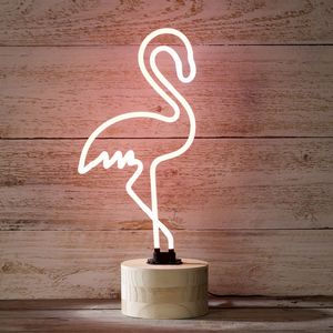 Neon Flamingo Light - children's room