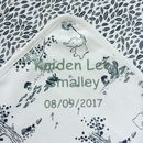 Personalised Baby Blanket Organic Cotton