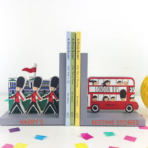 Personalised London Bookends - bookends