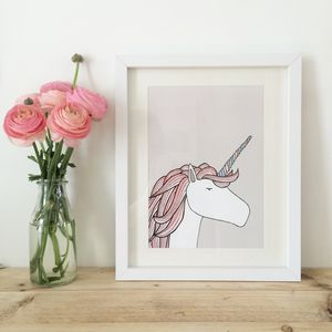 Unicorn Print - posters & prints for children