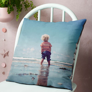 Personalised Double Sided Photo Cushion - living room
