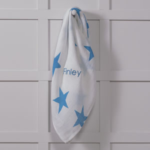 Personalised Star Classic Swaddle Blanket