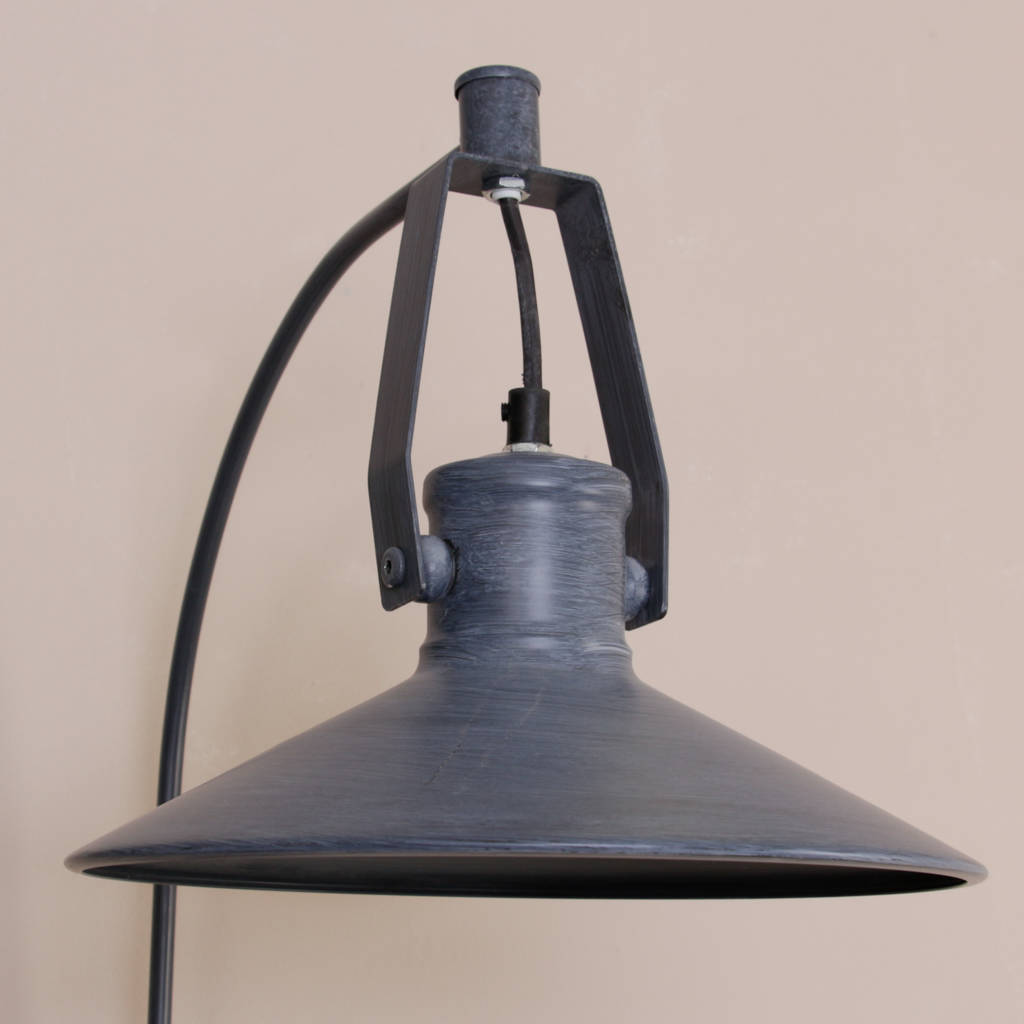 Wall Mounted Fisherman S Lamp : industrial grey metal fisherman s wall lamp by dibor notonthehighstreet.com