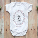 Personalised Bunny Rabbit Sketch Baby Grow