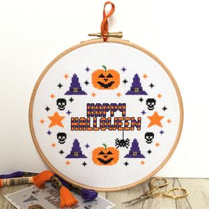 Halloween Cross Stitch Kit - creative kits & experiences