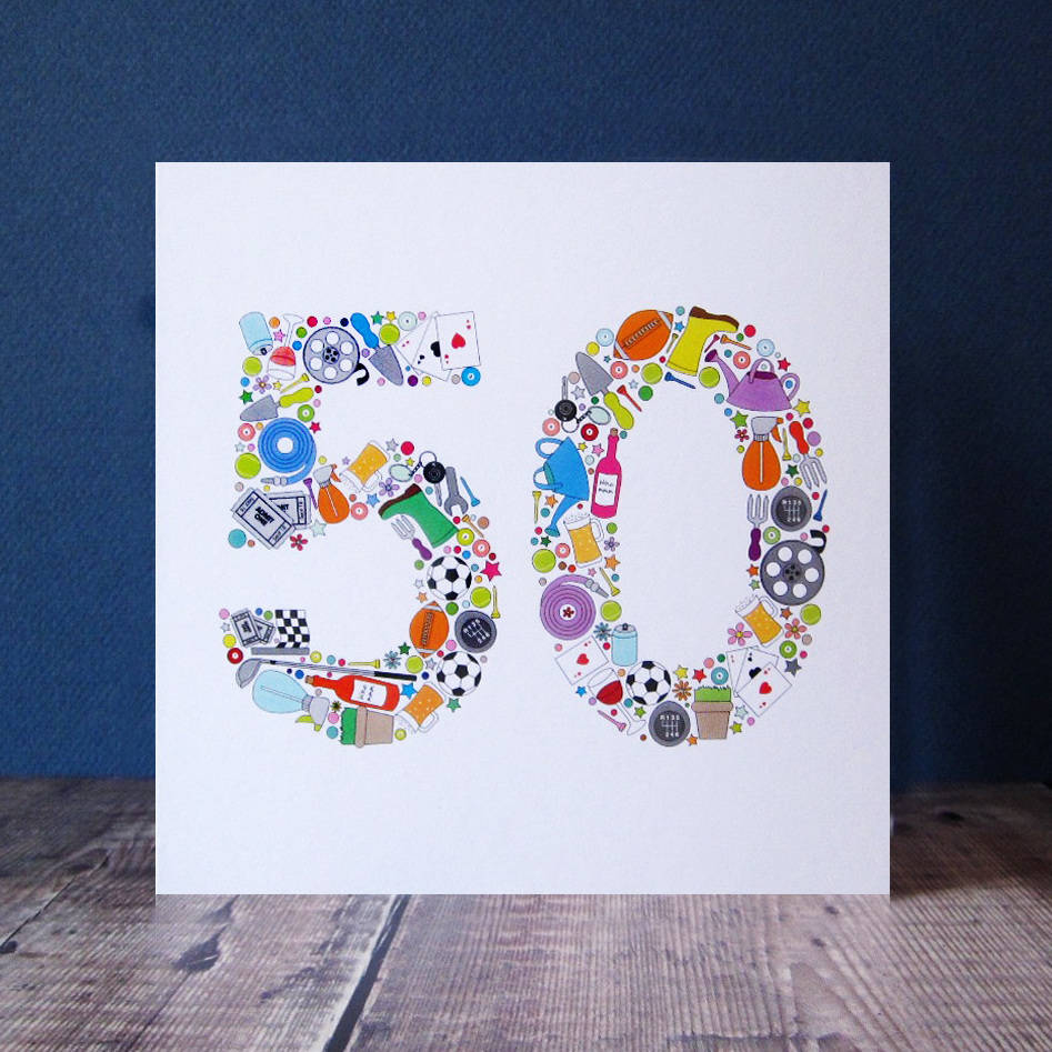 Mens things 50th birthday card by mrs l cards notonthehighstreet mens things 50th birthday card bookmarktalkfo Image collections