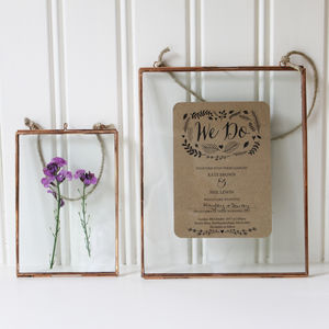 Copper Glass Frames - 60th birthday gifts