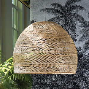 Large Wicker Hanging Lamp - ceiling lights