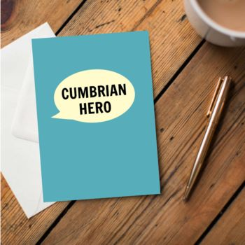 'Cumbrian Hero' Card