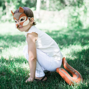 Squirrel Mask And Tail Children's Costume - gifts for children