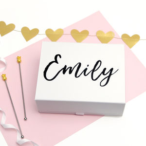Personalised Name Script Luxury Keepsake Gift Box